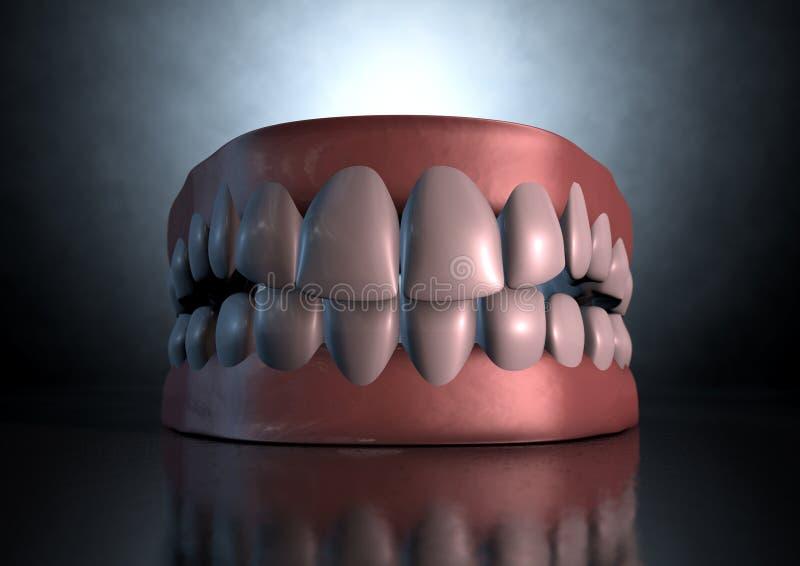 蠕动的牙 免版税库存图片
