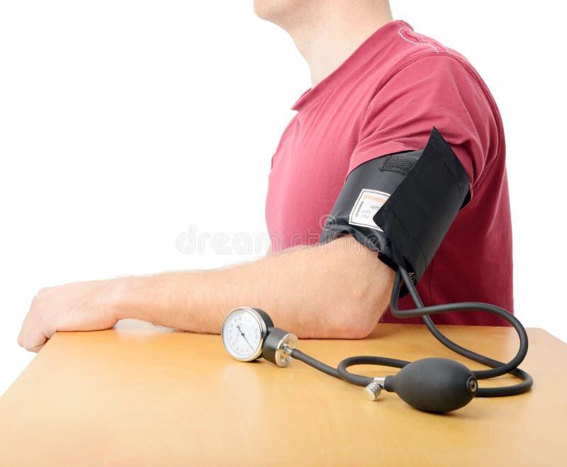 血压特写镜头  免版税库存照片