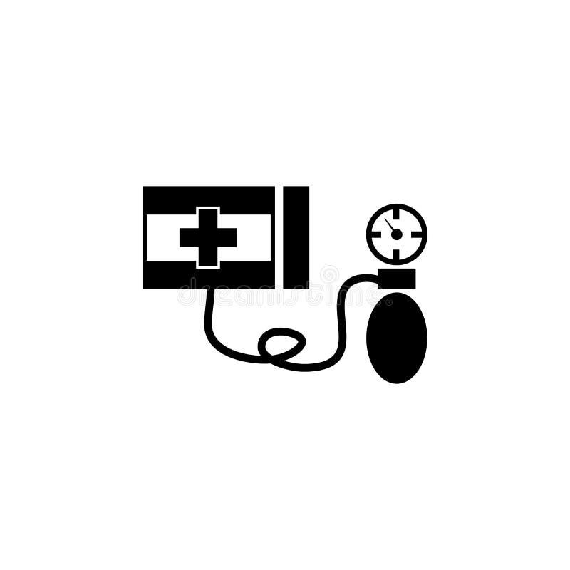 血压米象 医疗仪器象的元素 优质质量图形设计象 标志,概述标志colle 库存例证