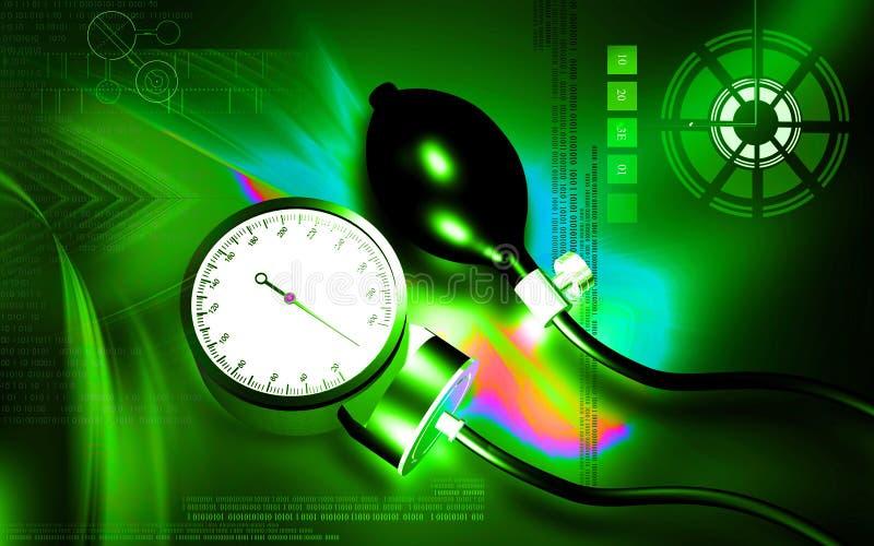 血压计 库存例证