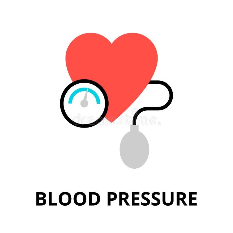血压象的概念 库存例证