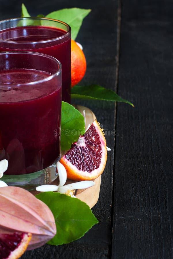 血橙汁背景 库存图片