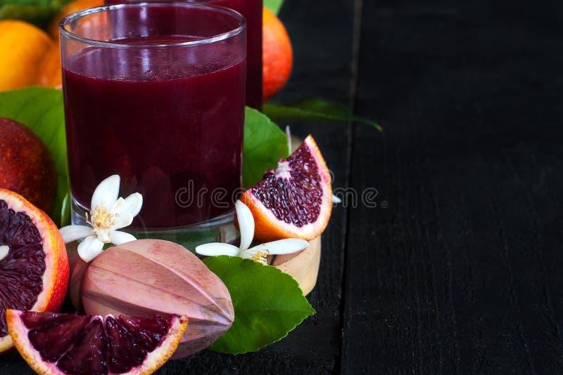血橙汁背景 免版税图库摄影