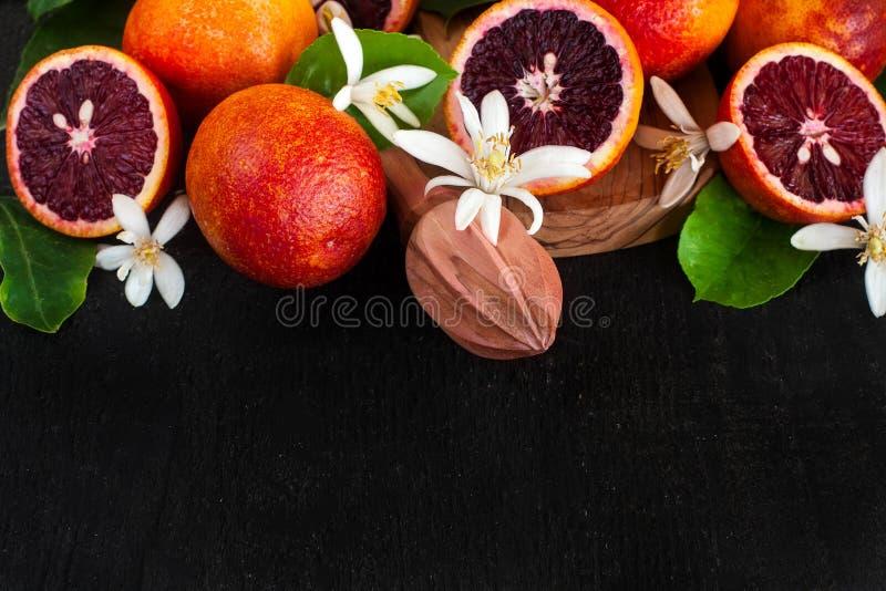 血橙背景 免版税库存图片
