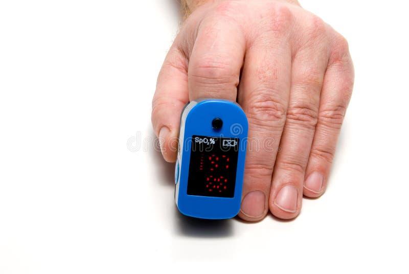 血氧定量计脉冲 免版税库存图片