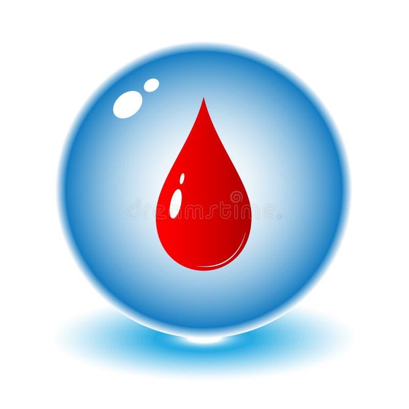 血液下落图标向量 向量例证