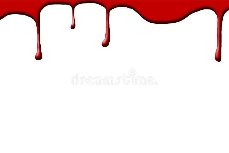 血液下落 库存例证
