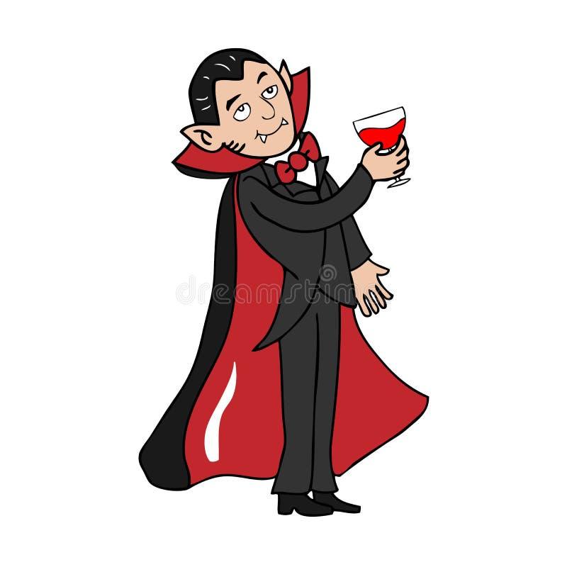 血液喝吸血鬼 向量例证