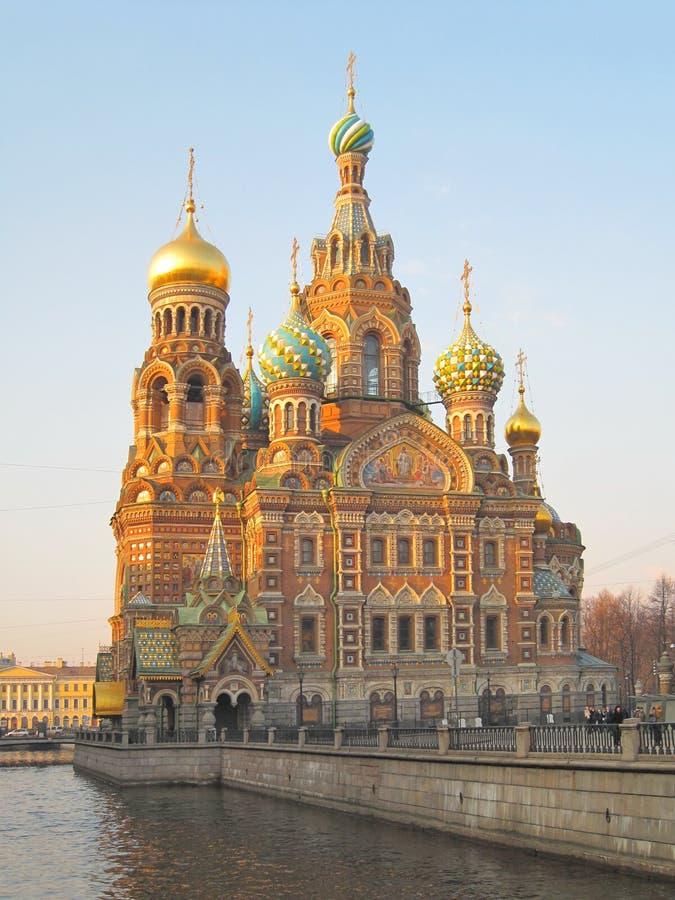 血液大教堂彼得斯堡救主st 免版税库存图片