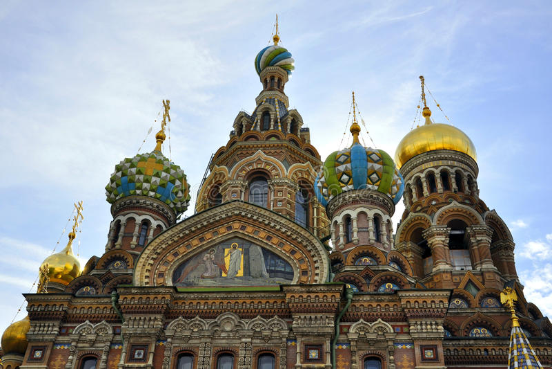血液教会彼得斯堡圣徒救主 库存照片