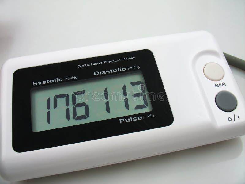 血液数字式监控程序preasure 图库摄影