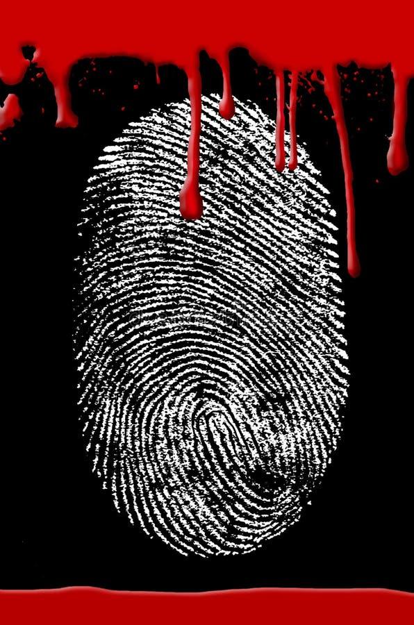 血液罪行指纹场面 库存例证