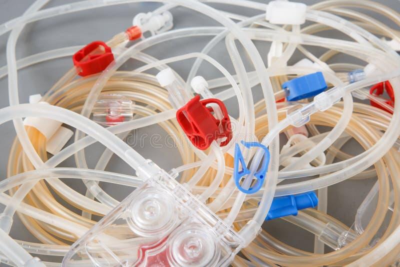 血液透析机器管  免版税库存图片