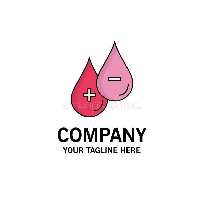 血液,下落,液体,加号,减去平的颜色象传染媒介 向量例证
