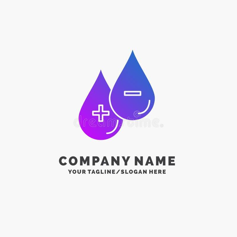 血液,下落,液体,加号,减去紫色企业商标模板 r 皇族释放例证