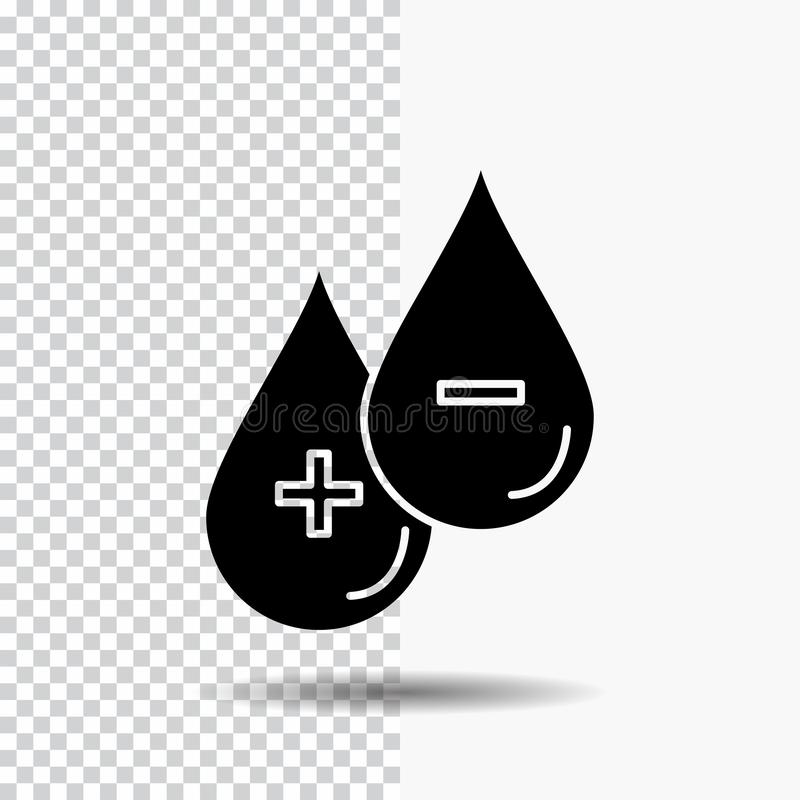 血液,下落,液体,加号,在透明背景的减去纵的沟纹象 ?? 向量例证