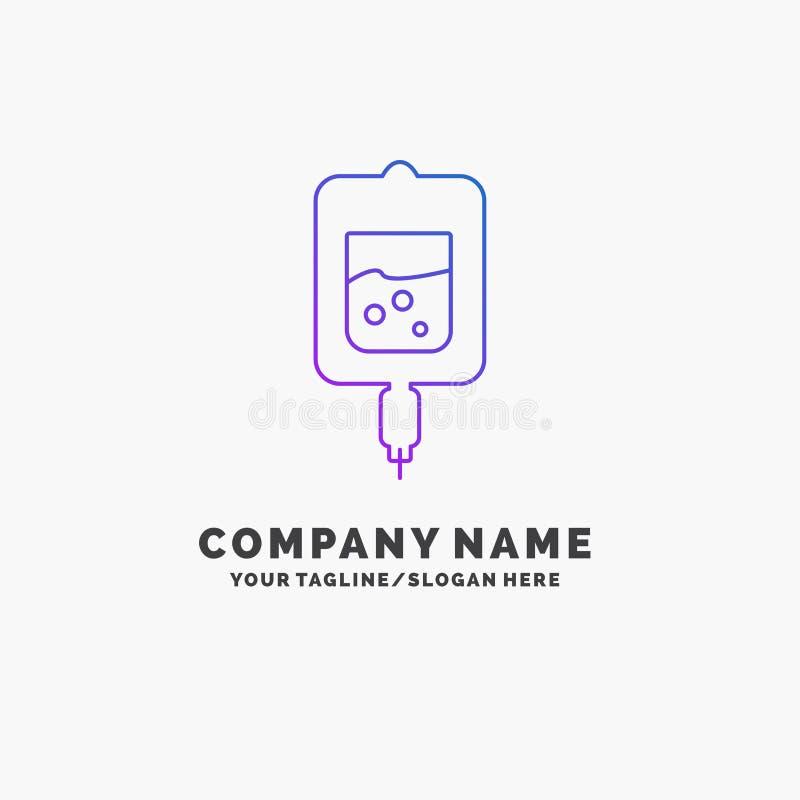 血液,测试,糖测试,样品紫色企业商标模板 r 向量例证