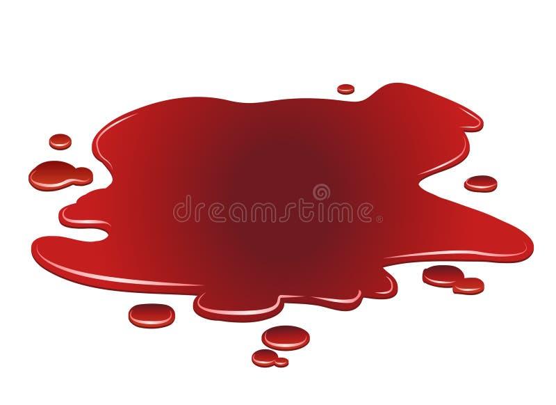 血液水坑  库存例证