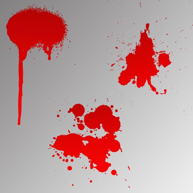 血液splats 免版税库存照片