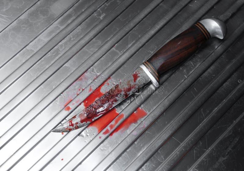 血淋淋的刀子 库存照片