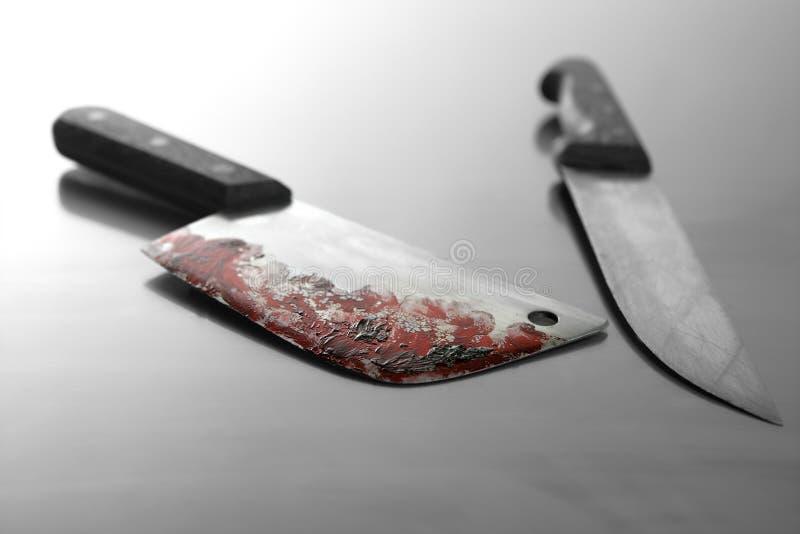 血淋淋的刀子 免版税库存图片