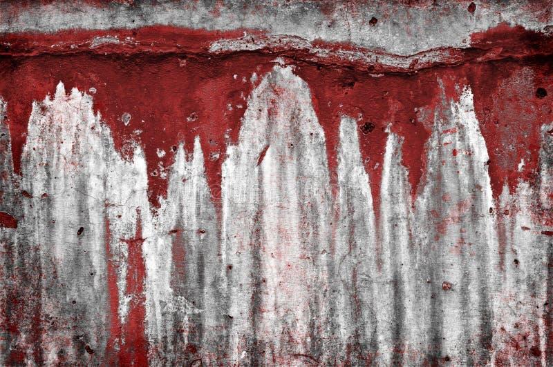 血淋淋的墙壁 库存照片