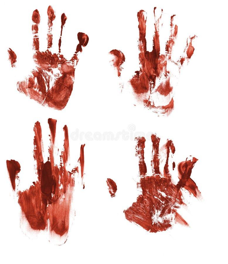 血淋淋的handprints 库存例证