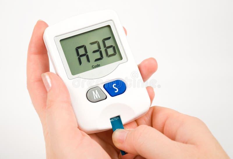 血糖测试 库存照片
