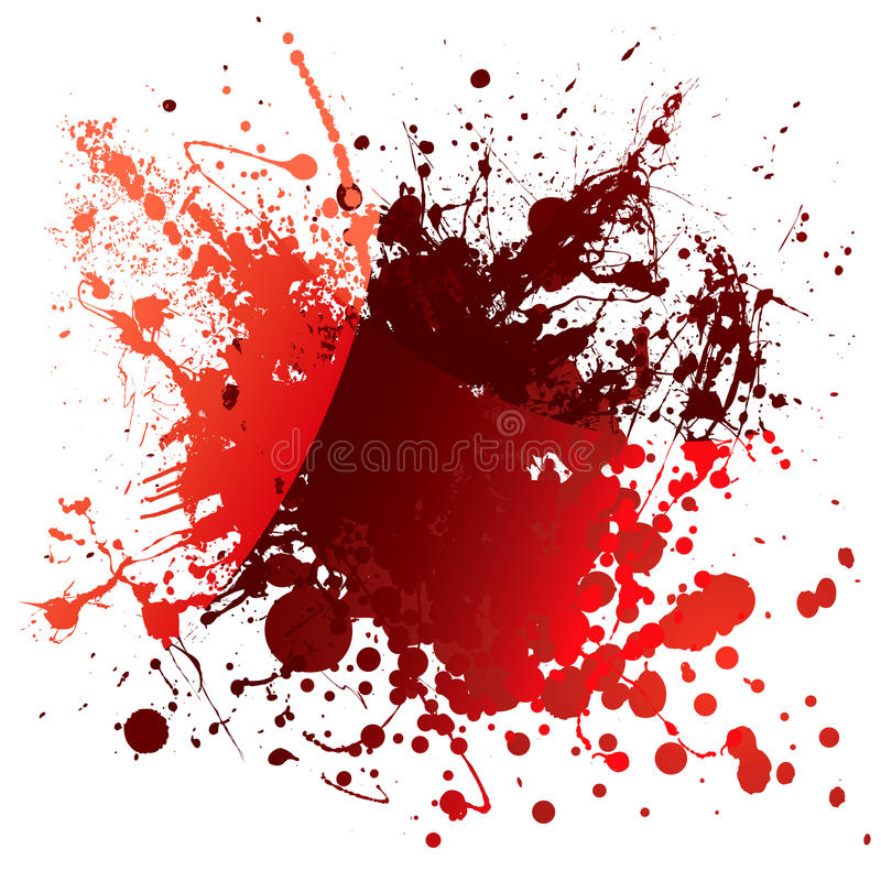 血红反映 向量例证