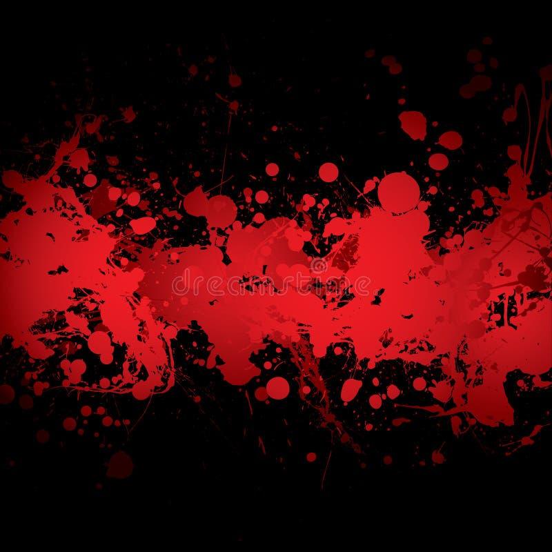 血红的横幅 皇族释放例证