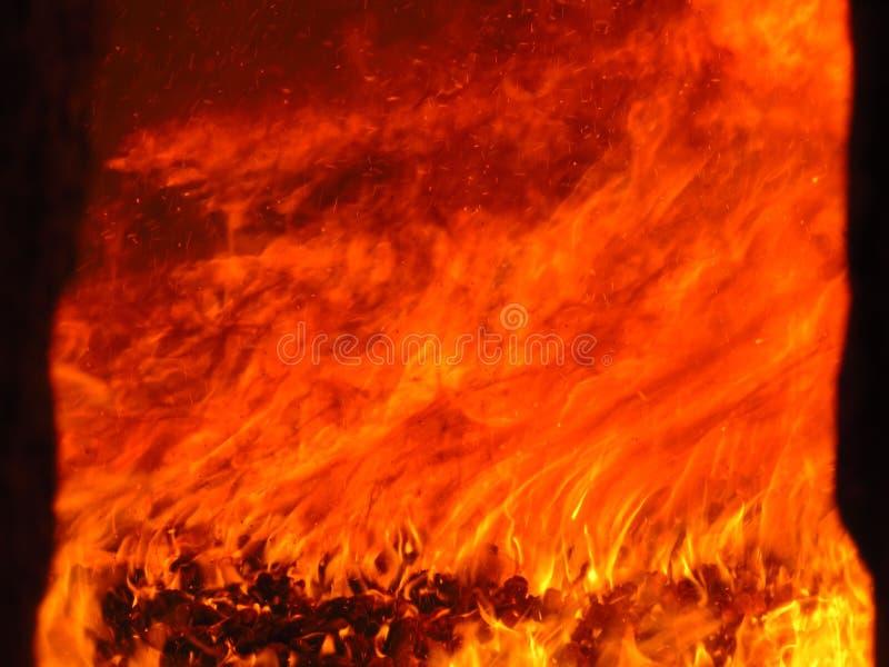 行业五颜六色的火熔炉 免版税图库摄影