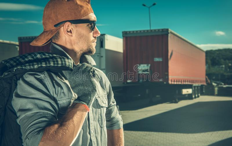 行业卡车司机 图库摄影