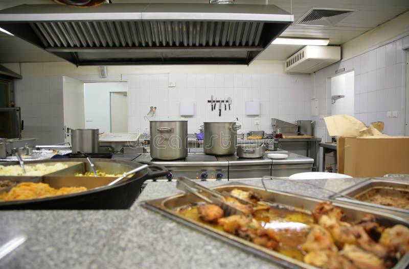 行业厨房 免版税库存照片