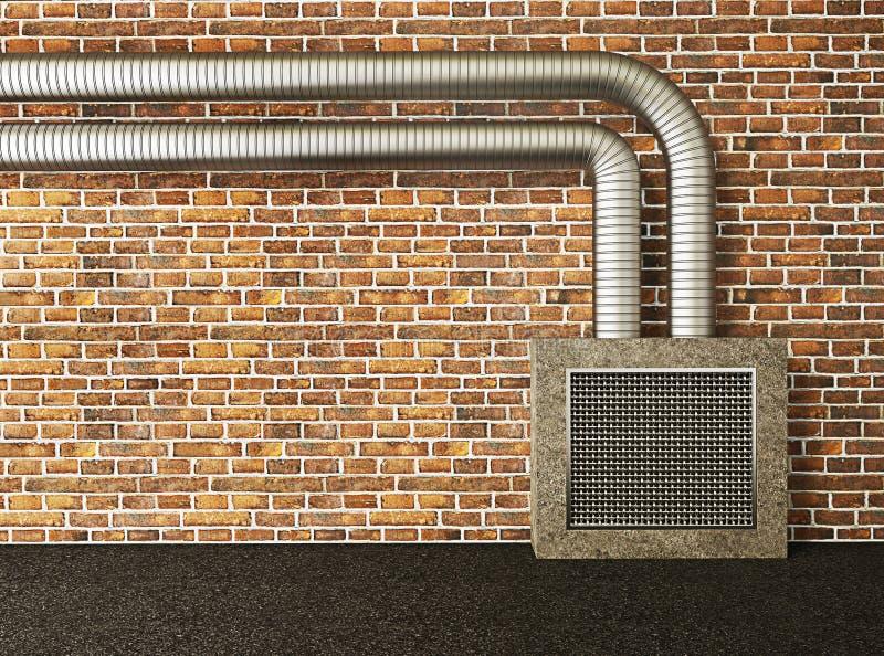 行业墙壁 向量例证