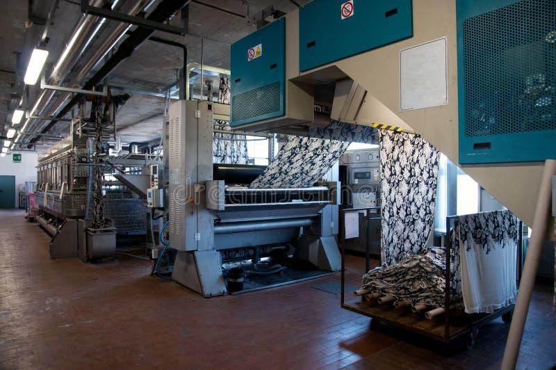 行业工厂打印纺织品 图库摄影