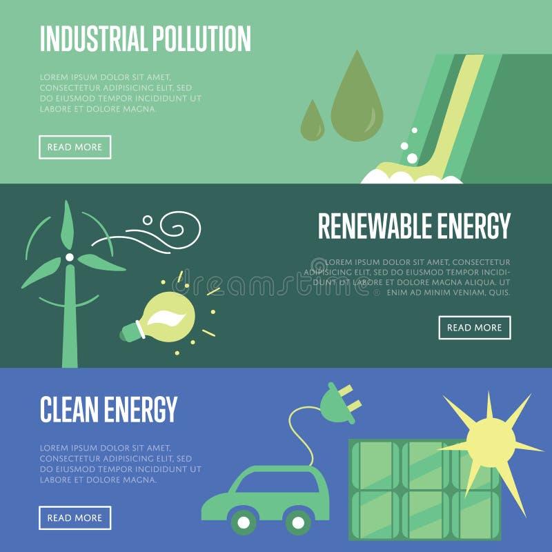 行业污染 可更新和清洁能源 皇族释放例证