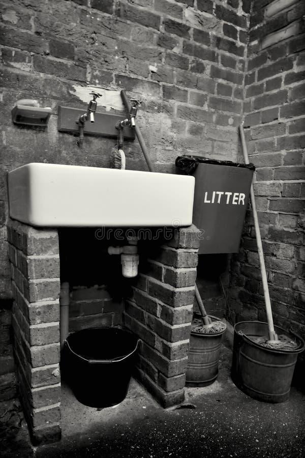 行业洗手间 库存图片