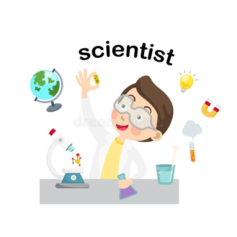 行业科学家例证 向量例证