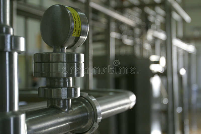 行业管道不锈钢工作 免版税库存图片