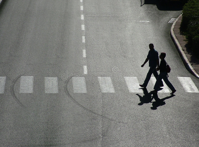 行人交叉路 库存图片