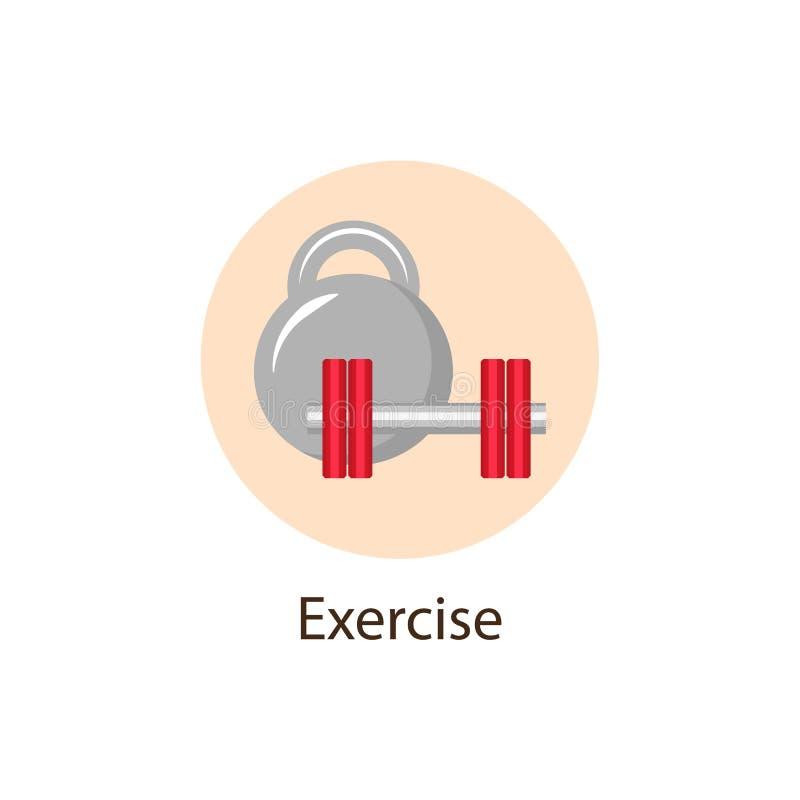 行使,体育圆的平的象,健康概念 皇族释放例证