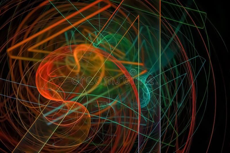 行动分数维纹理明亮作用幻想爆炸设计发光 库存例证