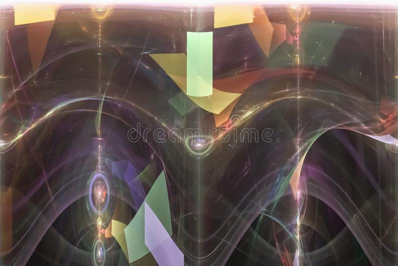 行动分数维纹理明亮的形状火焰创造性曲线幻想爆炸设计发光 皇族释放例证