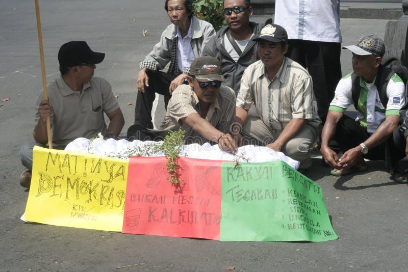 行动废弃物外国干预 库存图片