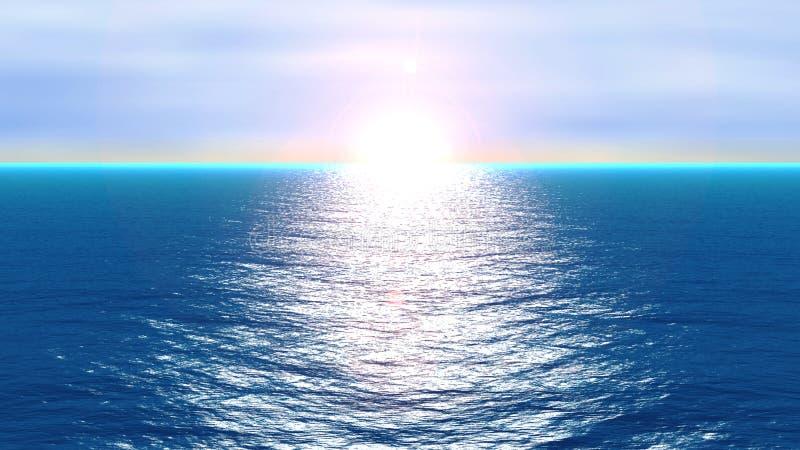 行动海洋 向量例证