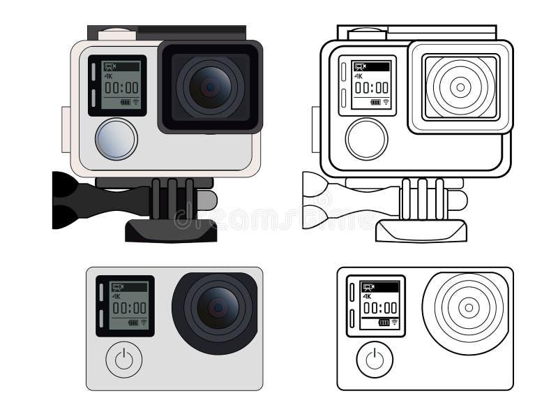 行动照相机股票例证 向量例证