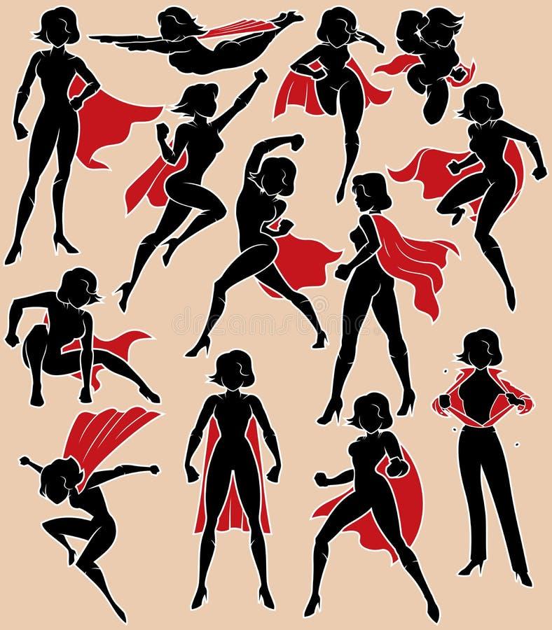 行动的超级女英雄 库存例证