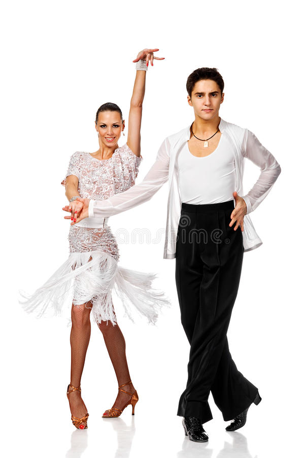 行动的高雅拉丁美州的舞蹈家 库存图片