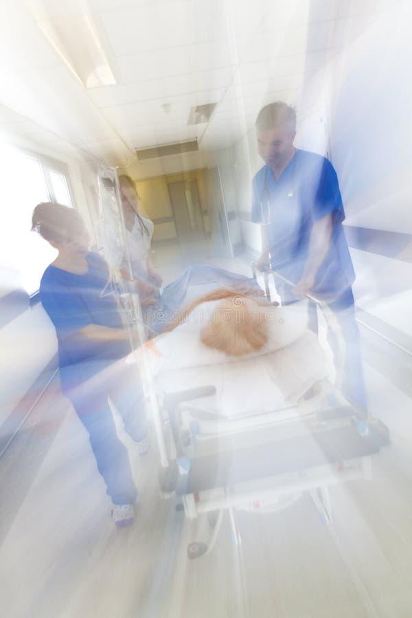 行动迷离担架盖尼式床耐心医院紧急状态 图库摄影