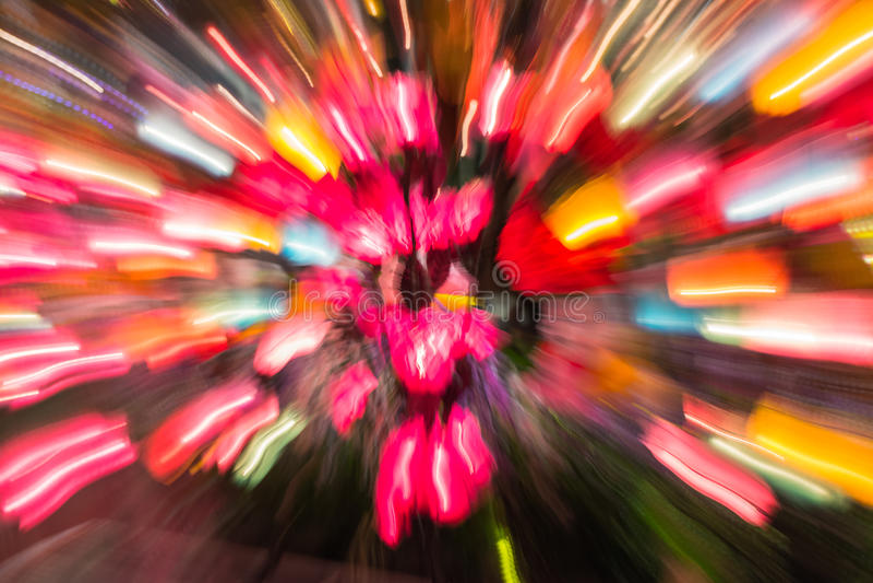 行动迷离灯光的五颜六色的颜色 免版税库存图片